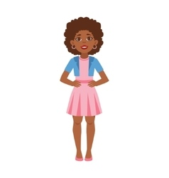 Black Young Woman Standing Part Of Growing Stages vector image vector image