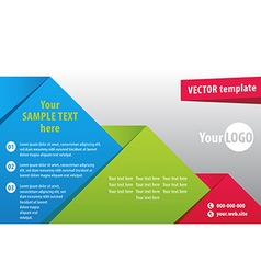 brochure1 vector image