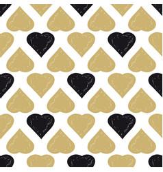 Decorative seamless heart pattern vector