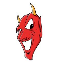 devil grinning vector image vector image