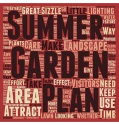 Make your summer garden sizzle text background vector