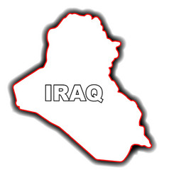 outline map of iraq vector image