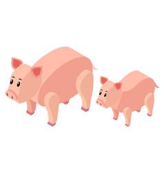 3d design for farm pigs vector image