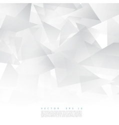 Abstract geometric shape from gray triangle vector