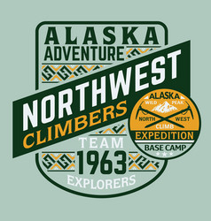 alaska climber adventure explorer expedition vector image