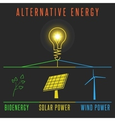 Alternative energy concept solar battery windmill vector