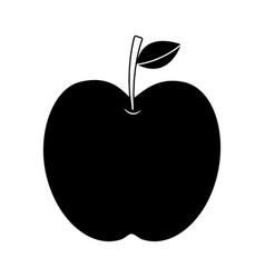 apple fruit fresh food health icon vector image