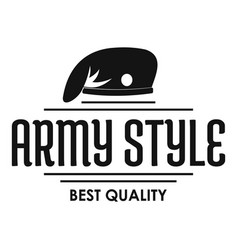 Army style logo simple black style vector