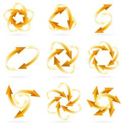 arrow circles vector image