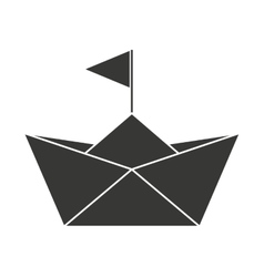 Baby toy sailboat paper isolated icon design vector image