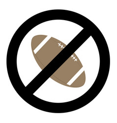 banning ball for rugby vector image