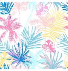beautiful abstract tropics seamless pattern vector image