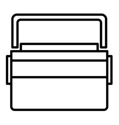 big lunchbox icon outline style vector image