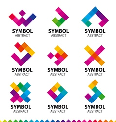 Biggest collection logos abstract modules vector