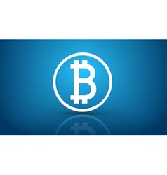 Bitcoin blue background vector image