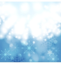 Blue shiny light Christmas design vector