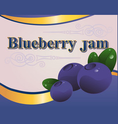 blueberry jam label vector image