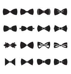 bow tie icons isolated on a white background vector image