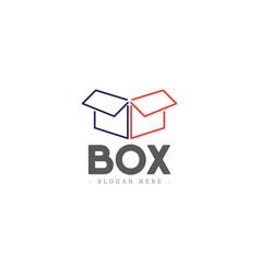 Box logo icon template design vector