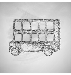 bus double decker icon vector image