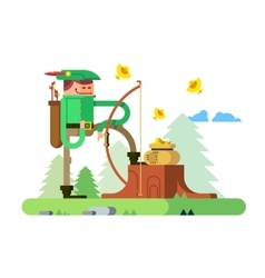 Character of Robin Hood vector image