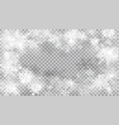 christmas background defocused snowflakes vector image