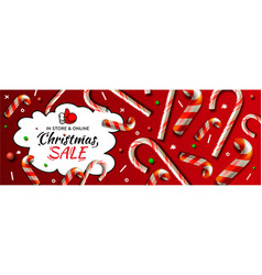 christmas sale horizontal banner template vector image