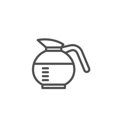 coffeepot line icon coffee drink sign vector image