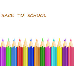 concept back to school with white apper and vector image