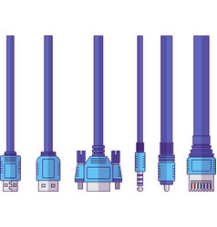 Connect cable vector