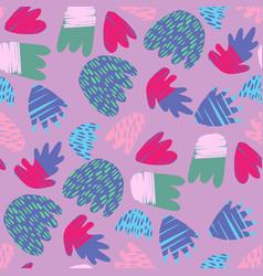 Contemporary hand drawn blots backdrop abstract vector