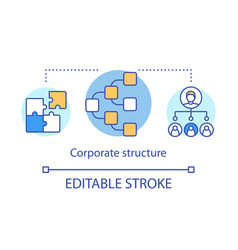 Corporate structure concept icon hierarchical vector