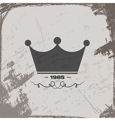 Crown vintage abstract grunge background vector