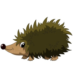 Cute hedgehog cartoon vector