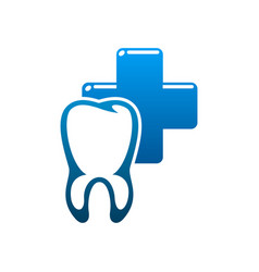 Dental clinic tooth and dentist icon vector