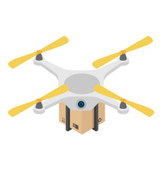 drone box delivery icon isometric style vector image