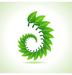 Eco leaf icon vector image