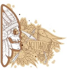 engraving sagittarius vector image
