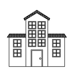 Exterior building isolated icon vector