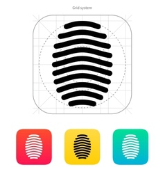 Fingerprint arch type icon vector