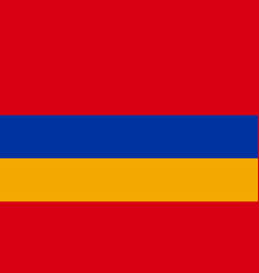 flag of armenia flag with official colors vector image