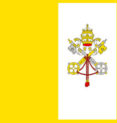 Flag of vatican in official rate and colors vector
