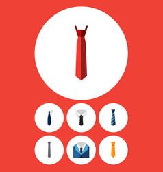flat icon clothing set of style collar cravat vector image