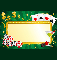 Gambling background vector