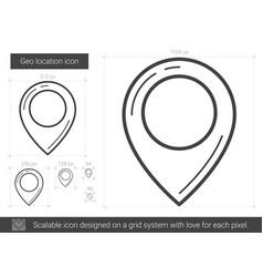 geo location line icon vector image