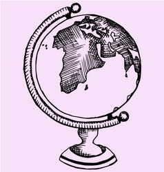 globe world vector image