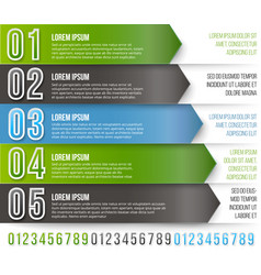 green arrows infographics vector image