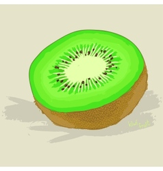 Hand drawn fresh kiwi fruit vector image