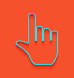 hand sign whitish icon on vector image