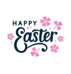 happy easter typography poster template vector image
